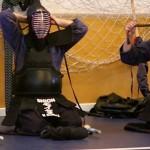 Competidores Shion-Dojo preparándose